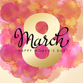 istock 8 March Watercolor for Women's Day 1091133952