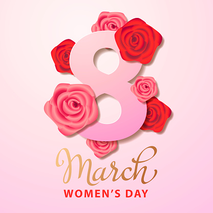 8 March with Roses