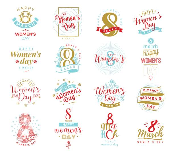 8 march. womens day background. - international womens day stock illustrations, clip art, cartoons, & icons