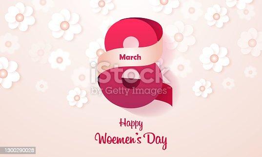 istock 8 March Women's Day stock illustration 1300290028