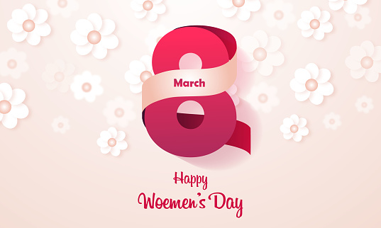 8 March Women's Day stock illustration