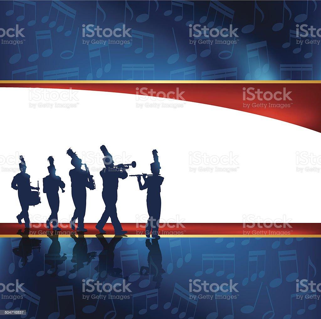 Blaskapelle Hintergrund – Vektorgrafik