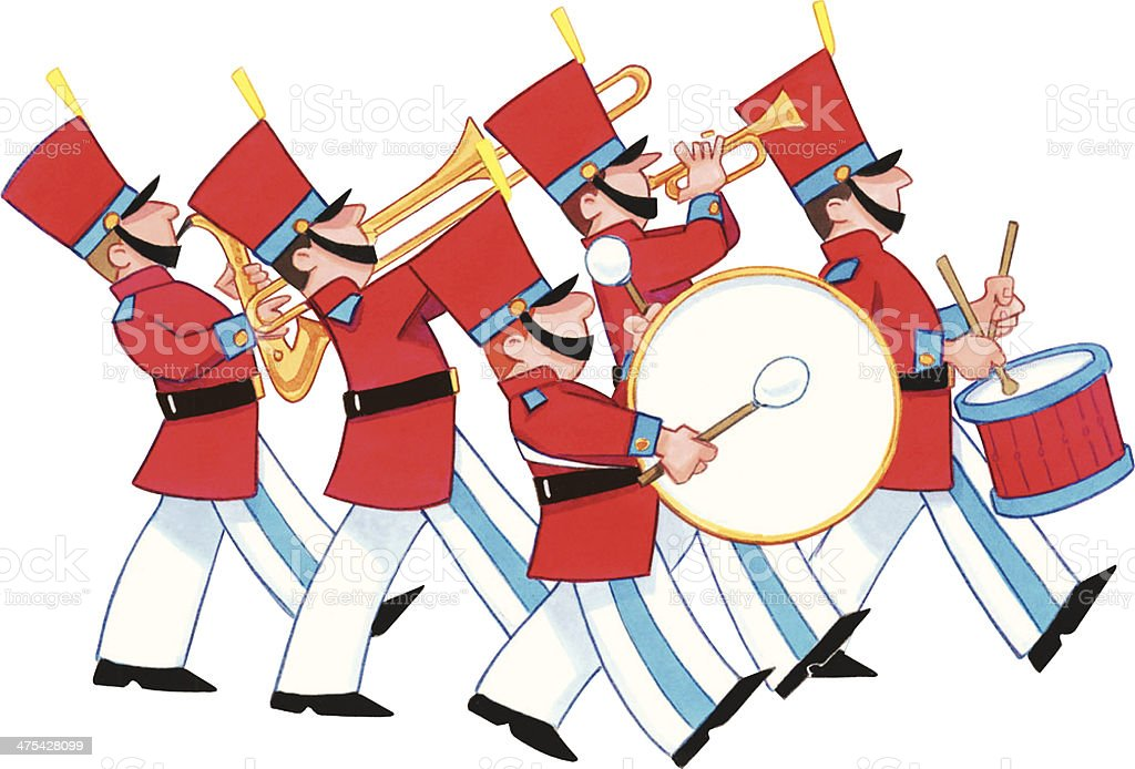 royalty free marching band clip art vector images illustrations rh istockphoto com marching band clip art free marching band clipart silhouette