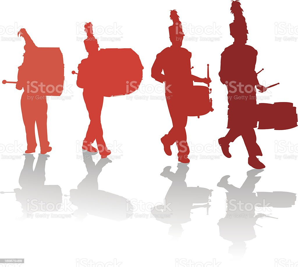 marching band drum line stock vector art more images of rh istockphoto com Drumline Silhouette drumline clipart images