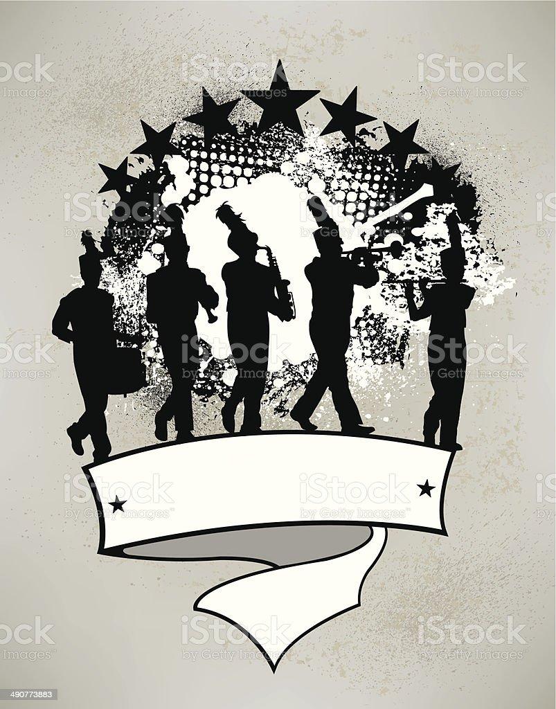 Blaskapelle Grunge Banner – Vektorgrafik