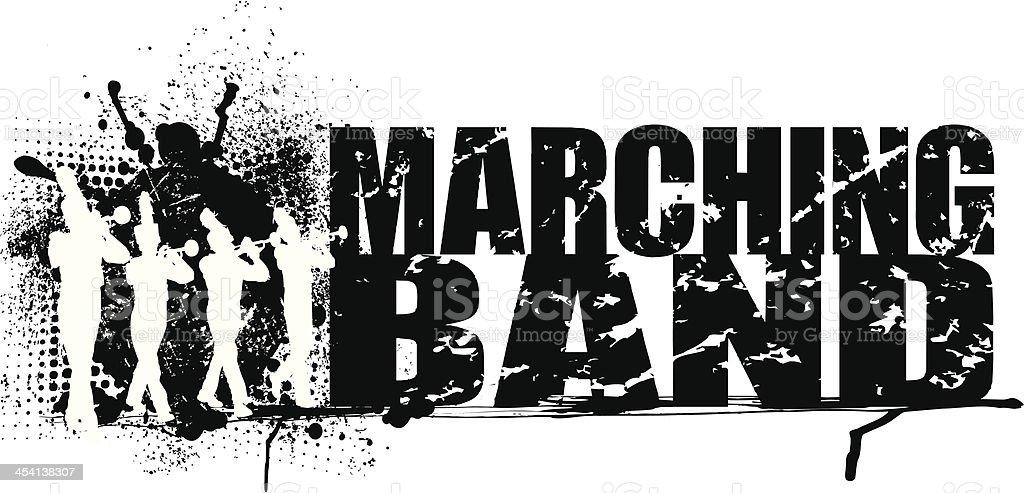 Blaskapelle Grunge Grafik Hintergrund – Vektorgrafik