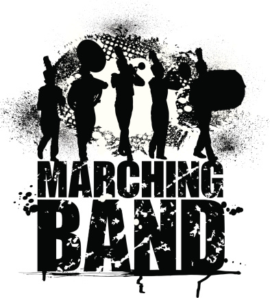 Marching Band - Grunge Graphic Background
