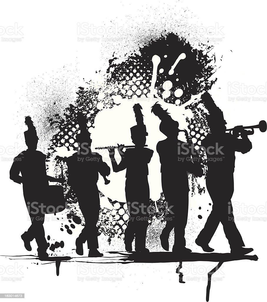 Blaskapelle Grunge Grafik – Vektorgrafik