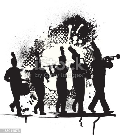 Marching Band Grunge Graphic Stock Vector Art Amp More