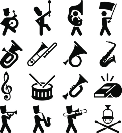 Marching Band Icons - Black Series