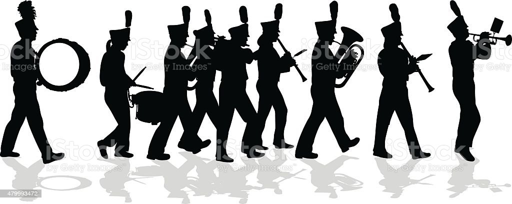 Marching Band Silhouette Full Lineup