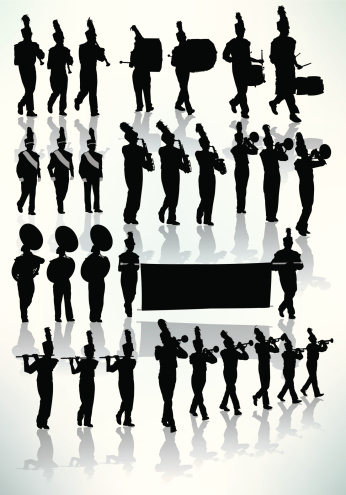 Marching Band - Silhouette