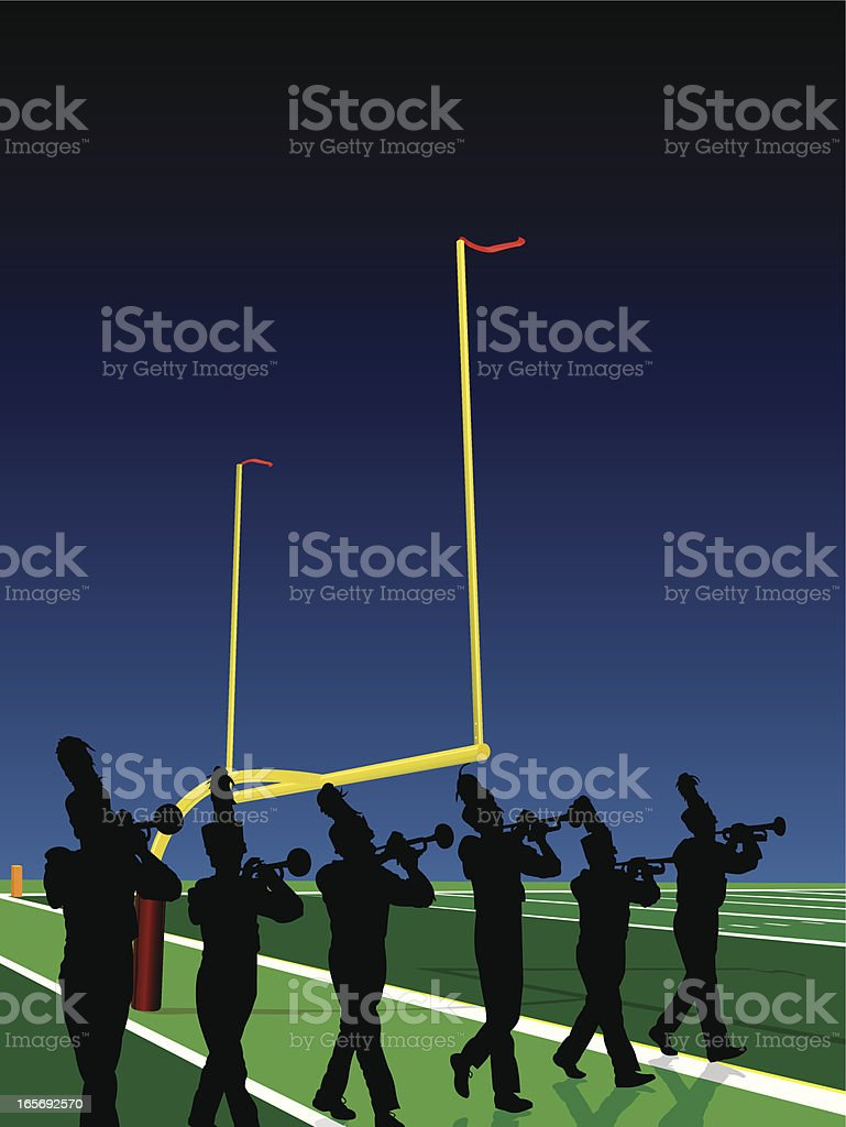 Marching Band Trumpet Line Football Halftime Show Background royalty-free marching band trumpet line football halftime show background stock vector art & more images of american football - sport