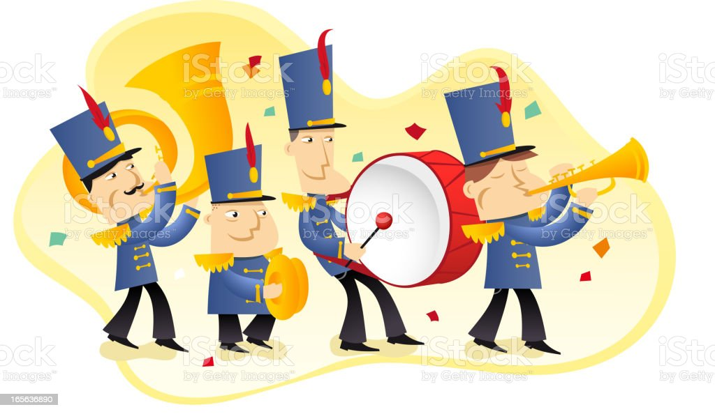 Marching band royalty-free stock vector art