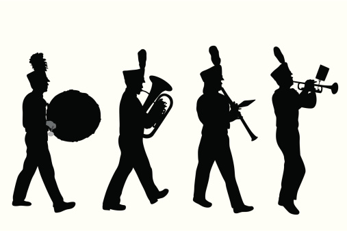 Marching Band Vector Silhouette