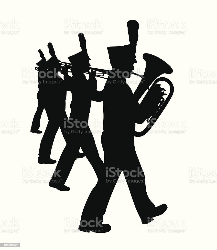 Marching Band Vector Silhouette vector art illustration