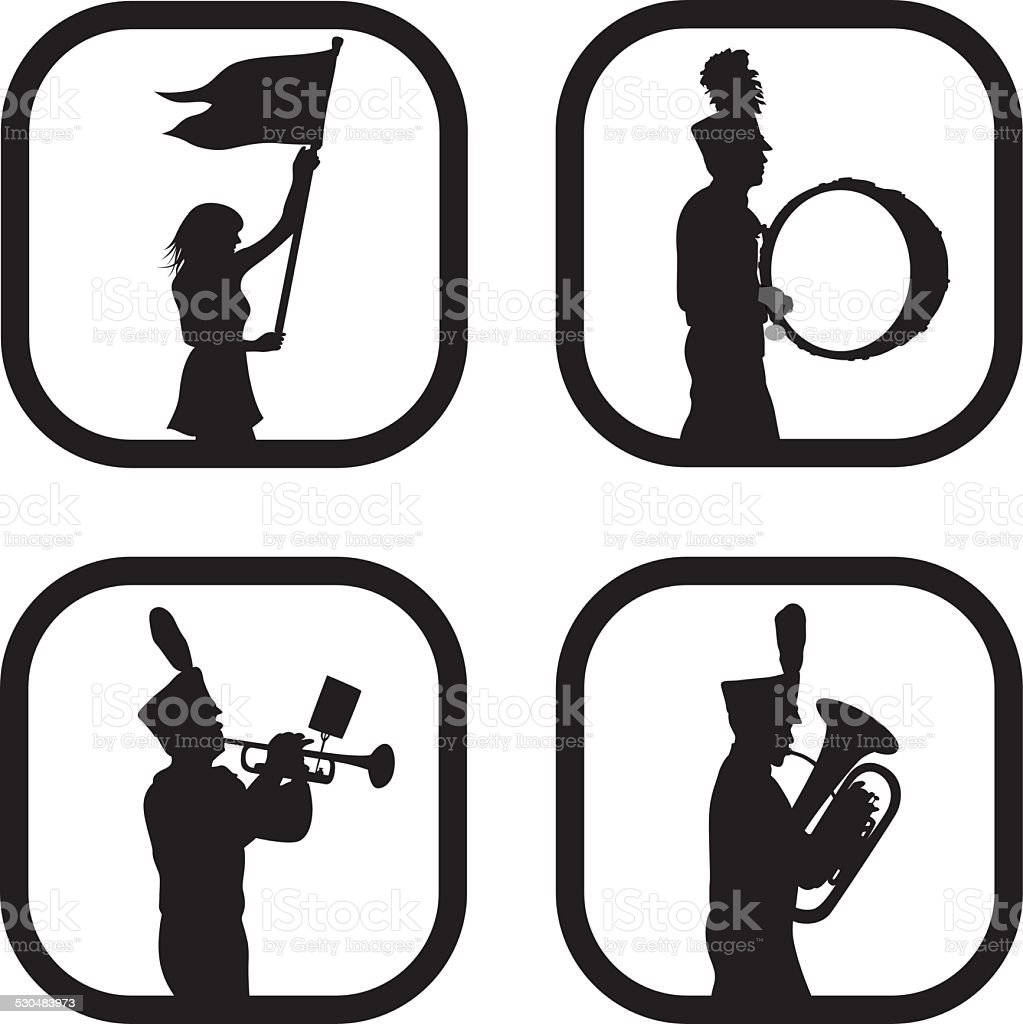 royalty free marching band clip art vector images illustrations rh istockphoto com  free drumline clipart