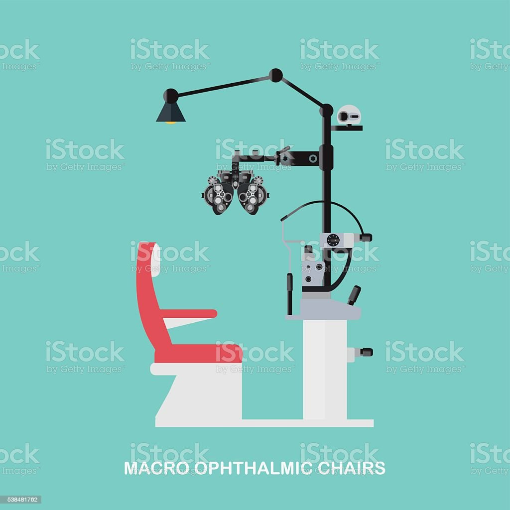 Marco Ophthalmic Chairs. vector art illustration