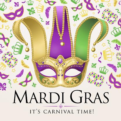 Mardi Gras and Jester Mask