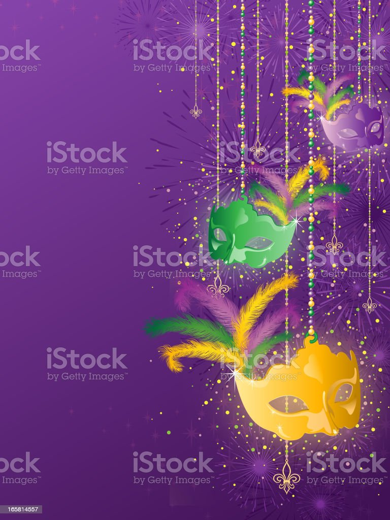 Mardi Gras Background vector art illustration