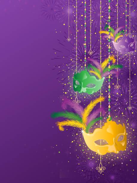 Mardi Gras Hintergrund – Vektorgrafik
