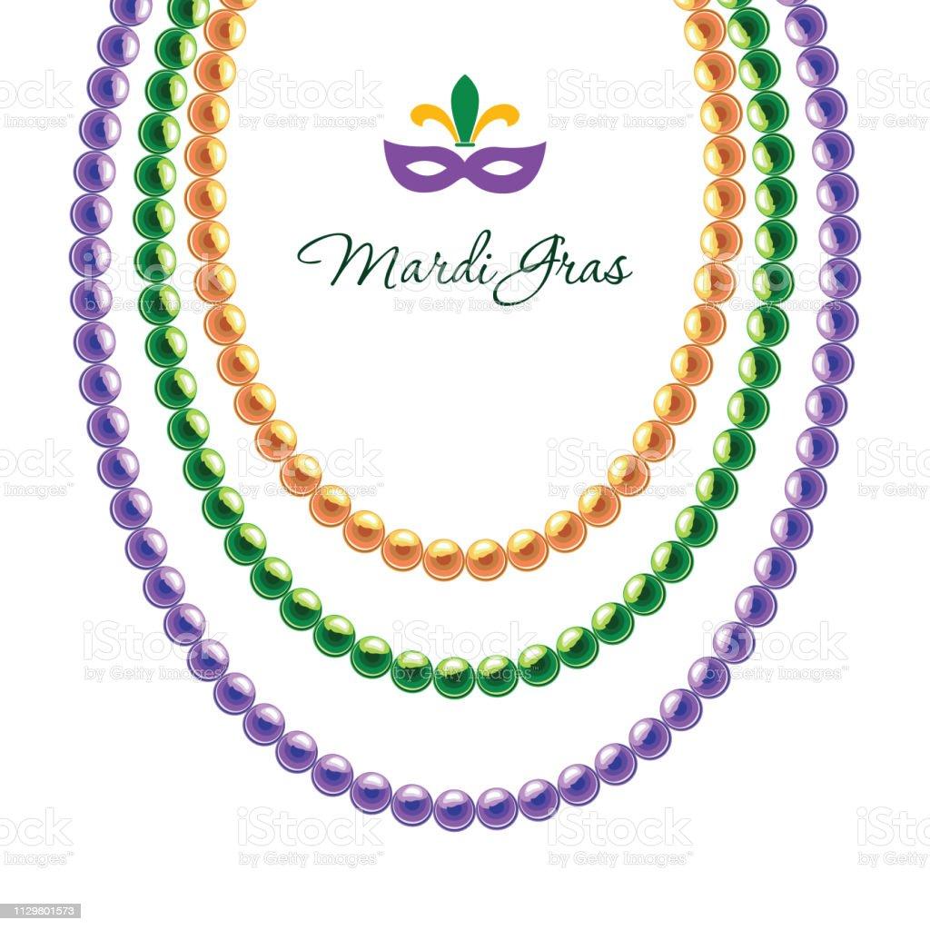 collier de perles carnaval