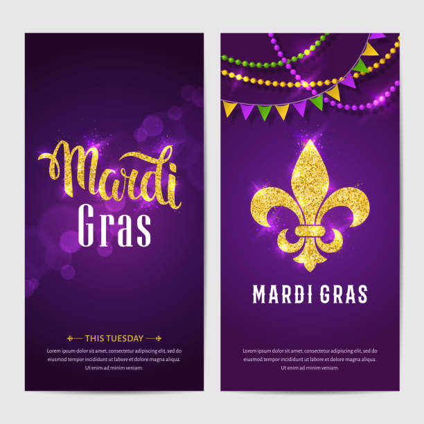 mardi gras brochures. - mardi gras stock illustrations, clip art, cartoons, & icons