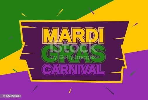 Mardi Gras carnival banner, card. Vector illustration. EPS10