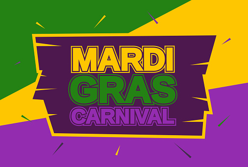 Mardi Gras carnival banner, card. Vector