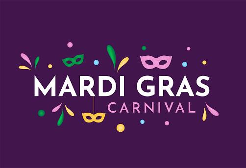Mardi Gras Carnival card. Vector