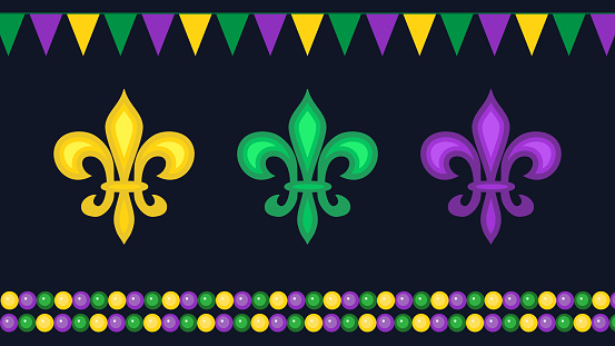 Mardi Gras carnival elements