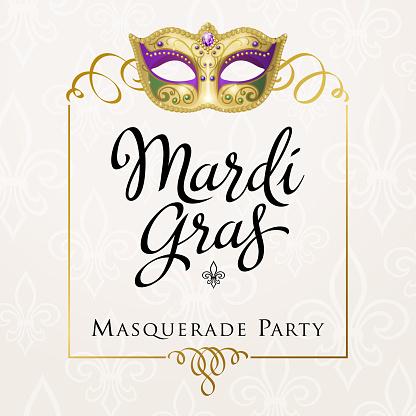 Mardi Gras Carnival Frame