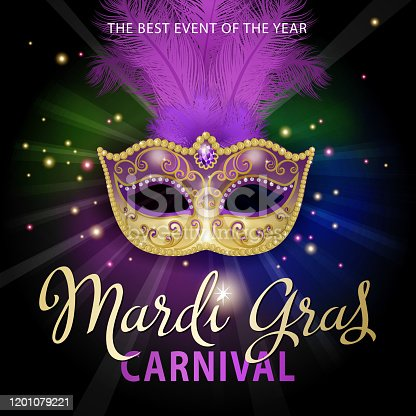 istock Mardi Gras Carnival Mask 1201079221