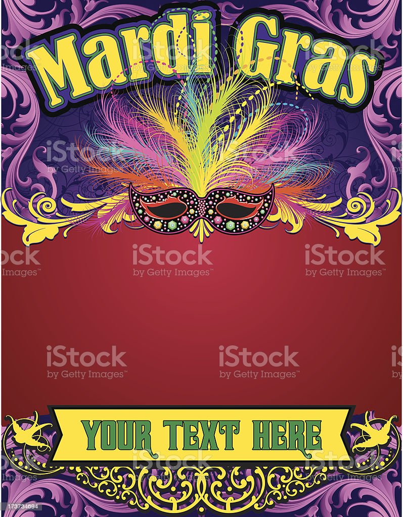 Mardi Gras Carnival Page Stock Vector Art & More Images of ...