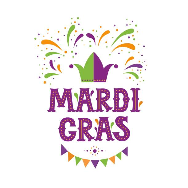Mardi Gras carnival party design. Fat Tuesday, carnival, festival. Vector illustration. For greeting card, banner, gift packaging, poster Mardi Gras carnival party design. Fat Tuesday, carnival, festival. Vector illustration. For greeting card, banner, gift packaging, poster mardi gras stock illustrations