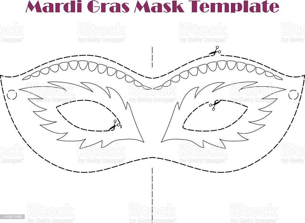 Mardi gras carnival printable template vector illustration stock mardi gras carnival printable template vector illustration royalty free stock vector art pronofoot35fo Images