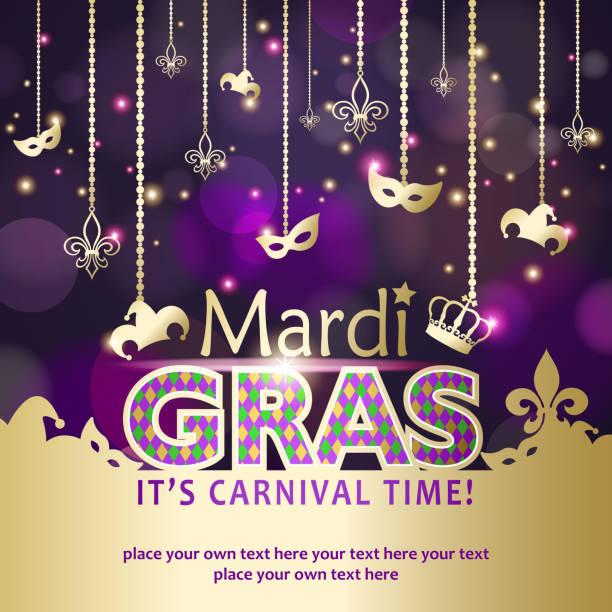 mardi gras carnival time - bead stock illustrations, clip art, cartoons, & icons