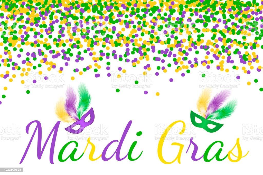 Fasching Karneval Vektor Hintergrund Mit Grunen Violetten Und Gelben