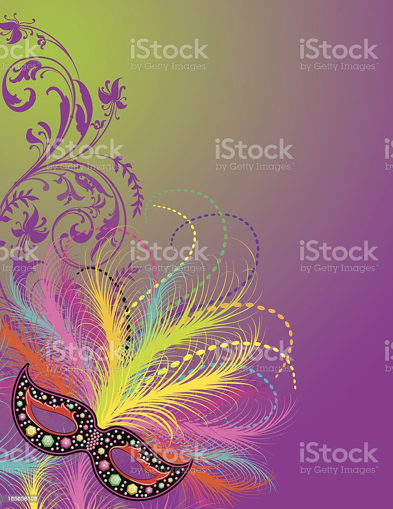 Mardi Gras celebration in purple royalty-free stock vector art