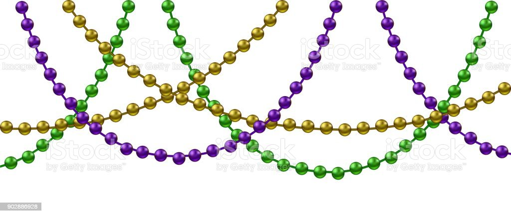 Mardi Gras decoration vector art illustration