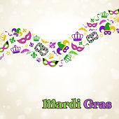 Mardi Gras elements.