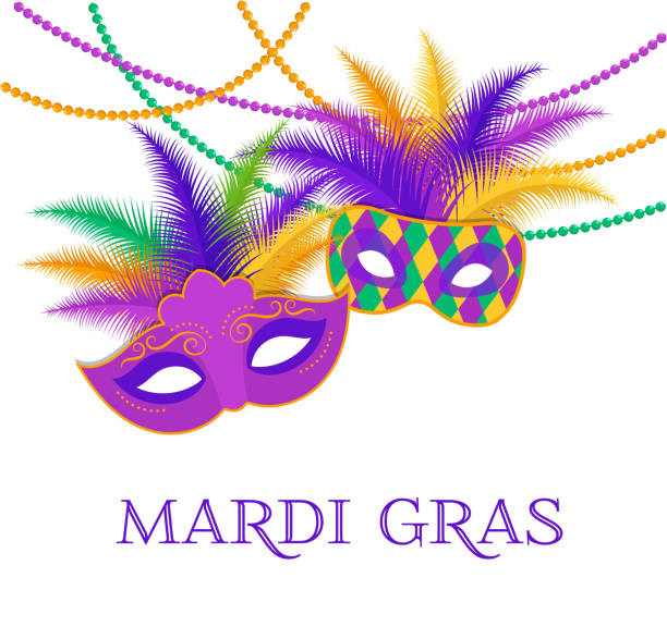 Mardi Gras - Fat Tuesday Carnival celebration template Mardi Gras - Fat Tuesday Carnival celebration. Vector flyer, banner template, poster and background mardi gras stock illustrations