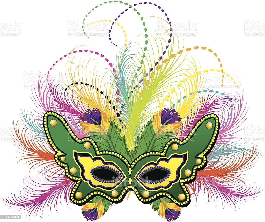 Mardi gras feather mask stock vector art more images of anniversary istock - Free mardi gras pics ...