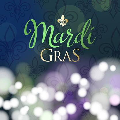 Mardi Gras Fleur De Lis Background
