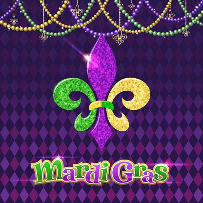 Mardi Gras Fleur De Lis Symbol