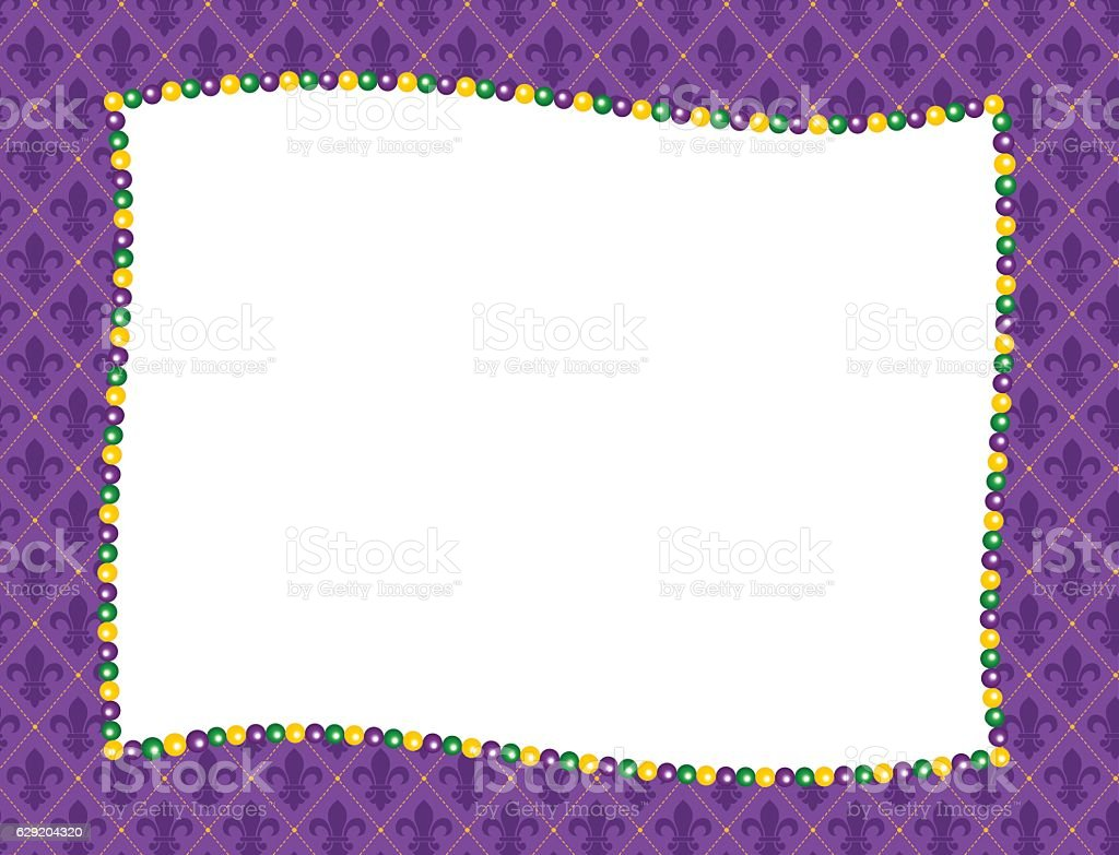 Mardi Gras Frame vector art illustration