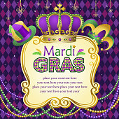 Mardi Gras hats frame.