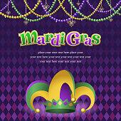 Mardi Gras Jester Hat with Background