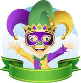 Mardi Gras jester.