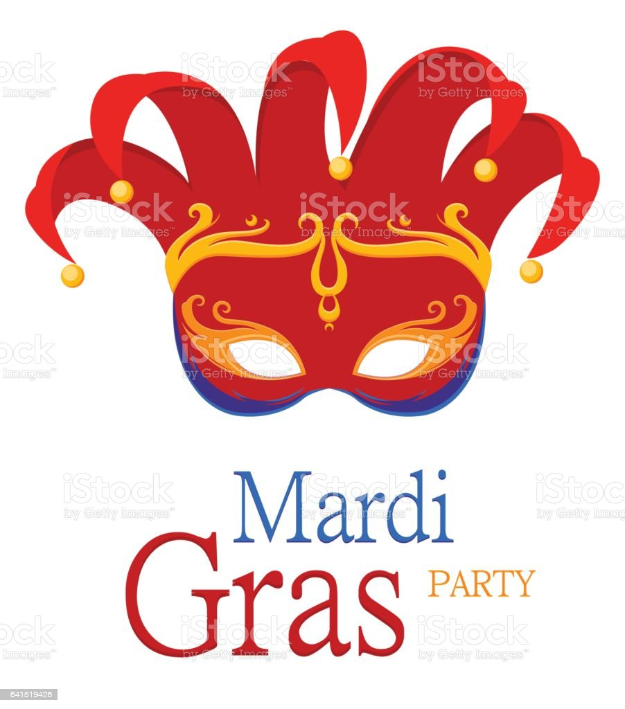 Mardi Gras Jesters Red Carnival Mask Stock Vector Art & More Images ...